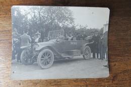 PHOTO ORIGINALE  VOITURE 1916 TOURNEE COMEDIE FRANCAISE MADEMOISELLE DUSSANNE - Documenti Storici