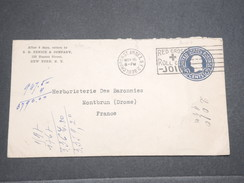 ETATS UNIS - Entier Postal De New York Pour La France En 1938 , Oblitération Croix Rouge - L 7651