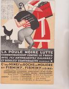 (R5) Buvard Antracites De La Poule Noire