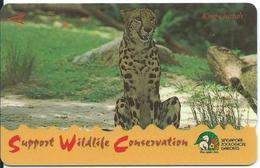 Léopard Animal  Télécarte Singapour Phonecarte  Card  (J 404) - Singapour