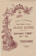 """34 Ville De  Puimisson 1900-1910 Bal Programme Illustré Société Dansante """"Le Muguet"""" Publicité Vin - Documents Historiques"""