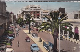 MAROC---CASABLANCA--le Boulevard Mohammed V-le Marché Central--(voitures Des Années 50-60 )----voir 2 Scans - Casablanca