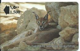 Lynx Animal  Télécarte Singapour Phonecarte  Card  (J 400) - Singapour