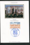 """FRANCE- Deux Carte Maximum """"UNESCO"""" (PARIS 75) 7 Avril 1990 Avec Timbre Service Y&T N°102 Et 103"""