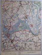 Oude STAFKAART 23/1 Uit 1930 DENDERMONDE SINT-GILLIS MOERZEKE MARIEKERKE BAASRODE HAMME-ZOGGE HOORT KASTEL BRIEL S546 - Dendermonde