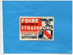 """FRANCE--ERINNOPHILIE-- Vignette-STRASBOURG""""foire Européenne -1er Samedi De Septembre - Commemorative Labels"""