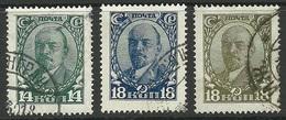 RUSSLAND RUSSIA 1928 Michel 346 - 348 V. I. Lenin O