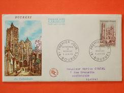 FRANCE 1er Jour 1965 - N°1453 Bourges Sur Enveloppe.  Superbe