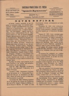 E5274 CUBA 1937. NEWSPAPER BOLETIN Nº1 SOCIEDAD PROTECTORA DEL PRESO CAMAGUEY. - Magazines & Newspapers