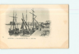 NANTES : Vue Générale Du Port. Dos Simple. 2 Scans. Edition ND - Nantes
