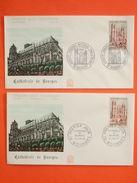 FRANCE 1er Jour 1965 - N°1453 Bourges Sur 2 Enveloppes.  Superbe