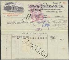 E5268 CUBA. 1958. FACTURA COMPAÑIA DE RON BACARDI. - Cheques & Traveler's Cheques