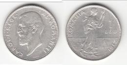 **** ROUMANIE - ROMANIA - 1 LEU 1912 CAROL I - SILVER - ARGENT **** EN ACHAT IMMEDIAT !!! - Roumanie