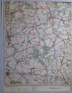 Oude STAFKAART 23/2 Uit 1930 PUURS SINT-AMANDS OPPUURS BUGGENHOUT MALDEREN LIEZELE LIPPELO OPDORP LONDERZEEL S547 - Puurs