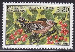 ANDORRA FR. 1998 Bird Set Of 1,PINSA COMU,  MNH**