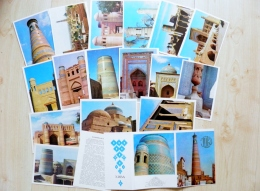 16 Cards In Folder From Ussr 1979 Uzbekistan Khiva Chiwa Jiva - Uzbekistan