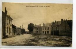 51-05 HERMONVILLE Carte Rare Rue De Reims Place Du Village écrite Longuement   /D09-2015 - Other Municipalities