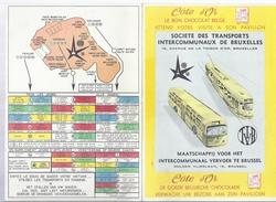 EXPO 1958 C^TE D' OR BELGISCHE CHOCOLADE CHOCOLAT BELGE TRANSPORTS BRUXELLES VERVOER BRUSSEL TRAM TRAMWAY - Publicités