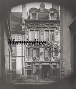 """1892 EXCLUSIF Maison Des Ambassadeurs à DIJON """"Magasin Peugeot"""": Plaque De Verre + Tirage Papier 21/29,7 - Plaques De Verre"""