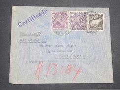 CHILI - Enveloppe De Santiago Pour Paris Par Avion En 1939 , Affranchissement Plaisant - L 7676 - Chili