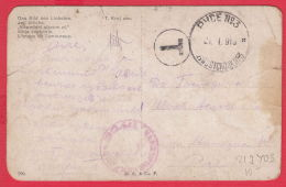 219403 / WW1 ,  Censorship  ROUSSE No. 3 , POSTAGE DUE Bulgaria , Czech Art T. KROJ , KROY - DAS BILD DES LIEBSTEN
