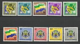 """Gabon Service YT 1 à 10 """" Poste-officielle """" 1968 Neuf** - Gabon (1960-...)"""
