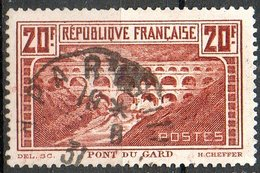 France - N°262 Pont Du Gard Oblitéré - Dents Courtes