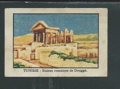 Chromo TUNISIE Ruines Romaines De Dougga Chocolat Annecy RRR  1936 TB/Bien Colonies Françaises - Chocolat