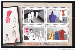 Singapore 2013 Joint Issue With France, Fashion, La Mode S/S MNH