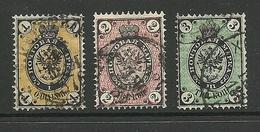 RUSSLAND RUSSIA 1866/75 Michel 18 - 19 & 24 O