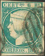 ISABEL II. Isabel II. 1 De Enero De 1852. º 16 6 Reales Azul. Color Muy Intenso. MAGNIFICO. Cert. CEM. (Edifil 2017 - Zonder Classificatie