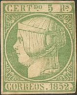 ISABEL II. Isabel II. 1 De Enero De 1852. * MH 15 5 Reales Verde (regular Estado De Conservación). BONITO. Cert. - Spanje