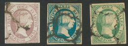 ISABEL II. Isabel II. 1 De Enero De 1851. º 7, 10, 11 12 Cuartos Lila, 6 Reales Azul Y 10 Reales Verde. Enormes M&a - Spanje