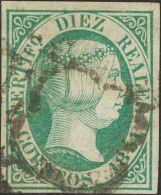 ISABEL II. Isabel II. 1 De Enero De 1851. º 11 10 Reales Verde. MAGNIFICO. Cert. COMEX. (Edifil 2017: 720€) - Spanje
