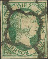 ISABEL II. Isabel II. 1 De Enero De 1851. º 11 10 Reales Verde. MAGNIFICO. Cert. CEM. (Edifil 2017: 720€) - Spanje
