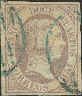 ISABEL II. Isabel II. 1 De Enero De 1851. º 7 12 Cuartos Lila (leve Puntito Claro Sin Importancia). Matasello PARRI - Spanje