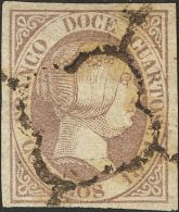 ISABEL II. Isabel II. 1 De Enero De 1851. º 7 12 Cuartos Lila. MAGNIFICO. (Edifil 2017: 265€) - Zonder Classificatie