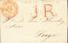 ISABEL II. Isabel II. 1 De Enero De 1851. SOBRE 1851. SARGADELOS (LUGO) A LUGO. Baeza MONDOÑEDO / 1 ENº 1851 - Spanje