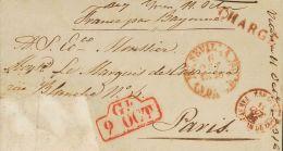 ISABEL II. Isabel II. 1 De Enero De 1850. SOBRE 1850. Certificado De SEVILLA A PARIS (FRANCIA) (la Carta En Origen Estab - Spanje