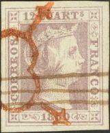 ISABEL II. Isabel II. 1 De Enero De 1850. º 2 12 Cuartos Lila (color Intenso Y Grandes Márgenes). Matasello - Spanje