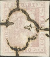 ISABEL II. Isabel II. 1 De Enero De 1850. º 2 12 Cuartos Lila. MAGNIFICO. Cert. COMEX. (Edifil 2017: 405€) - Spanje