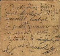 PREFILATELIA. Ejércitos Franceses. SOBRE 1809. BAYONA (FRANCIA) A MONOBLET. Marca BAU. GRAL. / ARM. FRANCAISE EN - Marcofilie (Brieven)