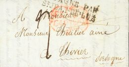 PREFILATELIA. Murcia. SOBRE 1833. CARTAGENA A THIVIER (FRANCIA). Marca FRANCA / CARTAGª, En Rojo (P.E.17) Edici&oac - Spanje