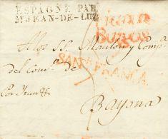 PREFILATELIA. Castilla Y Leon. SOBRE 1830. SANTANDER A BAYONA (FRANCIA). Marca SANR. FRANCA (P.E.16) Edición 2004 - Spanje