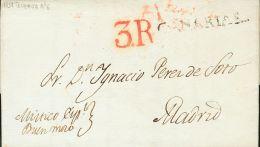 PREFILATELIA. Canarias. SOBRE 1837. SANTA CRUZ DE TENERIFE A MADRID. Marca CANARIAS, En Negro (P.E.2) Edición 200 - Spanje