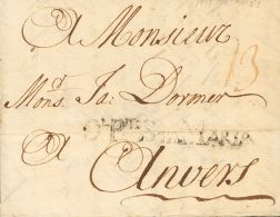 PREFILATELIA. Andalucía. SOBRE 1747. EL PUERTO DE SANTA MARIA A AMBERES (BELGICA). Marca DL. PTO. STA. MARIA (P.E - Spanje