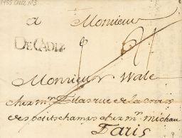 PREFILATELIA. Andalucía. SOBRE 1755. CADIZ a PARIS (FRANCIA). Marca DECADIZ (P.E.4) edición 2004. MAGNIFIC
