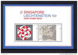 Singapore Liechtenstein 2014 Joint Stamp Issue S/S MNH