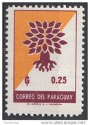 620 Paraguay 1961 World Refugee Year - Anno Del Rifugiato - Emblema Quercia Sradicata Nuovo MNH