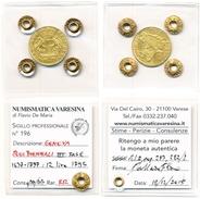 Trattabile GENOVA 12 LIRE 1795 Oro Dogi Biennali Repubblica Ligure Gold III Fase (1637-1797) Periziata Sigillata RR - Regional Coins